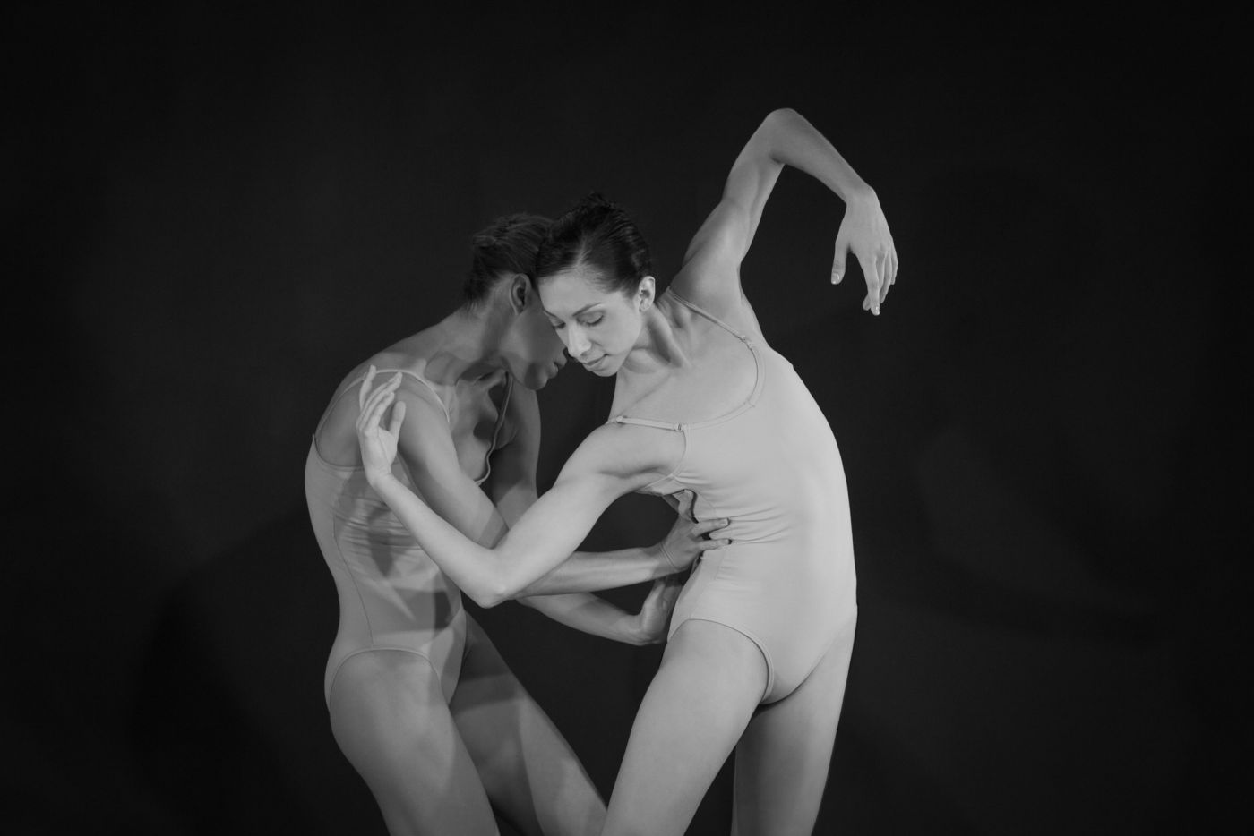 Black and white studio ballet photography