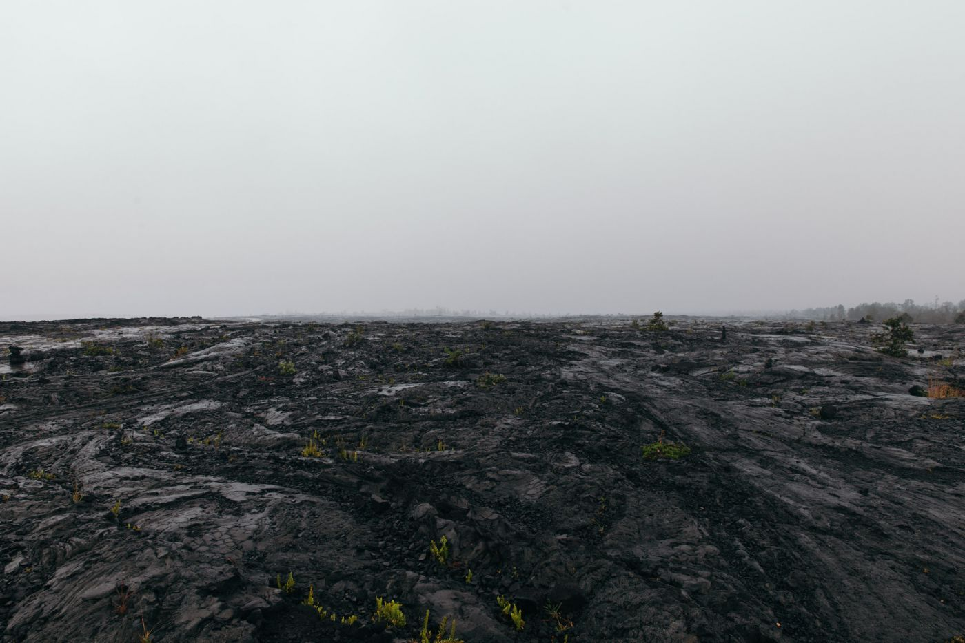 Paysage de lave, Hawaii Volcano State Park, Hawaii