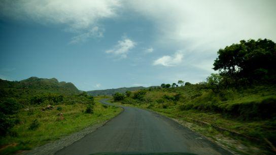 Routes verdoyantes, encore et toujours. Vraiment, les routes camerounaises m'ont beaucoup marqué.