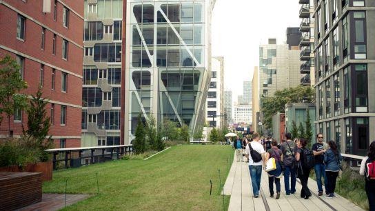 De la verdure, des buildings, des gens heureux…on se croirait dans un de ces plans d'architecte idéal.