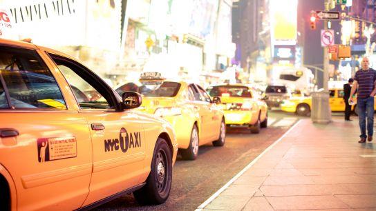 Les légendaires taxis New-Yorkais sont également là.