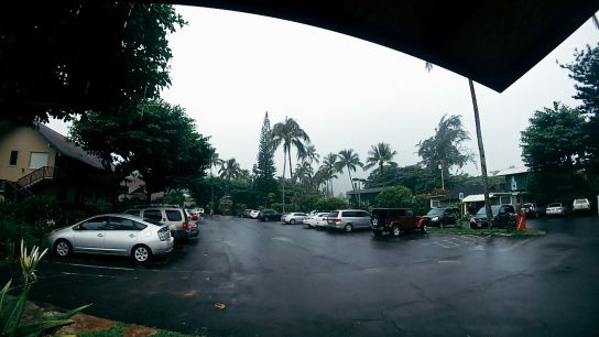 Hanalei Colony Resort, raining, Kaua'i, Hawaii