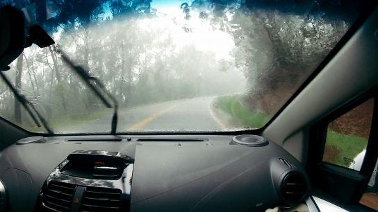 Road to Waimea Canyon and Koke'e State Park, rain, Kaua'i, Hawaii