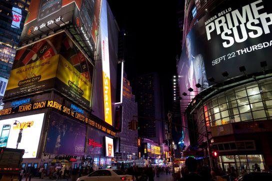 À Times Square, on se sent vraiment petit.
