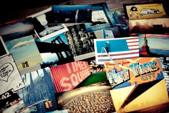 The rooftop, one of the places, with Central Park and the Sarah D. Roosevelt Park, I sat to write the postcards I've sent…