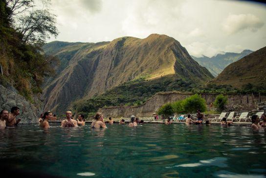 Hot springs, Santa Teresa, Salkantay Trek, Peru