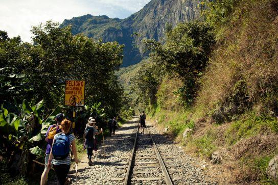 """""""Do not walk on the tracks"""". Yepyepyep…"""