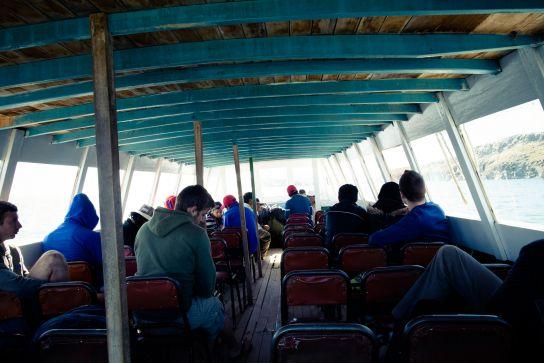 Copacabana-Isla Del Sol boat, Lake Titicaca, Bolivia