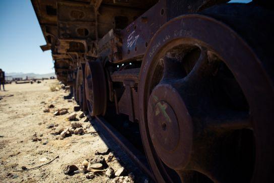 Cimetière de trains, Uyuni, Bolivie
