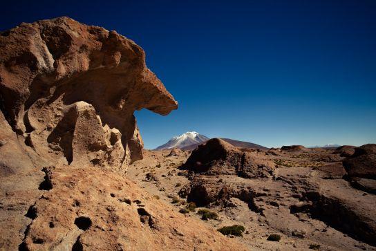 Désert Chuguana, Vocan Ollagüe, Bolivie