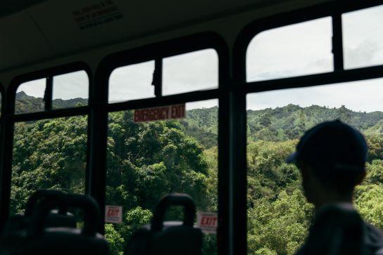 Bus Hanalei-Lihue, Kauai, Hawaii