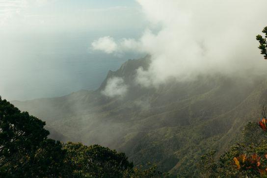 Kalalau Valley seen from above, Koke'e State Park, Kaua'i, Hawaii