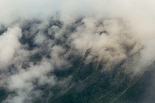 Kalalau Valley d'au dessus, Coucher de Soleil, Koke'e State Park, Kaua'i, Hawaii