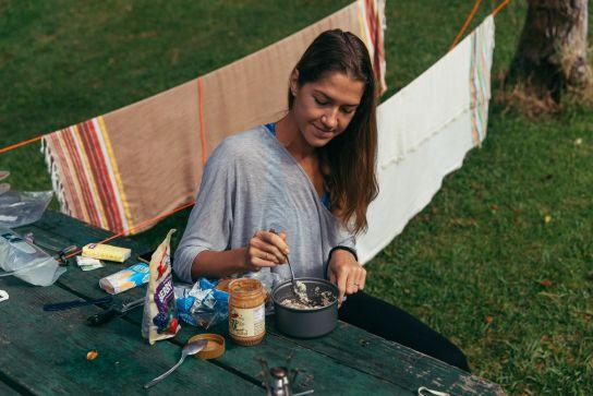 Breakfast on the campsite, Koke'e State Park, Kaua'i, Hawaii