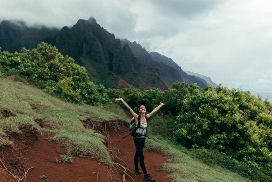 Entering Kalalau Valley, Kalalau Trail, Kaua'i, Hawaii