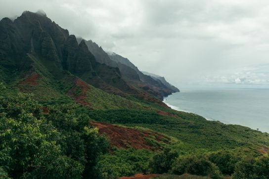 Kalalau Valley, Kalalau Trail, Kaua'i, Hawaii