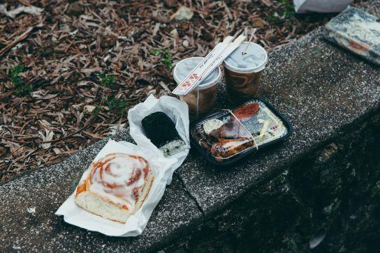 Breakfast on a wall, Big Island, Hawaii
