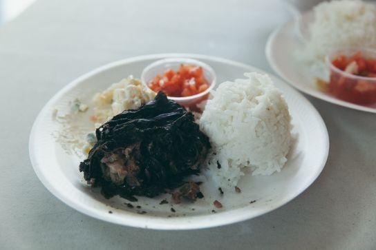 Kalua Pig and Cabbage, Super J's, Big Island, Hawaii