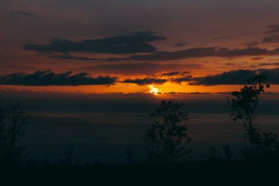 Coucher de Soleil, Big Island, Hawaii