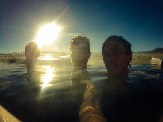 Termas de Polques, Laguna Chalviri, Bolivie