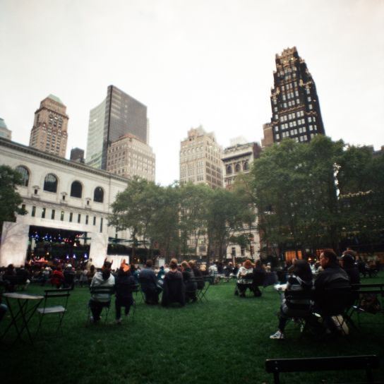 Bryant Park, during a free and open music festival. Nice.