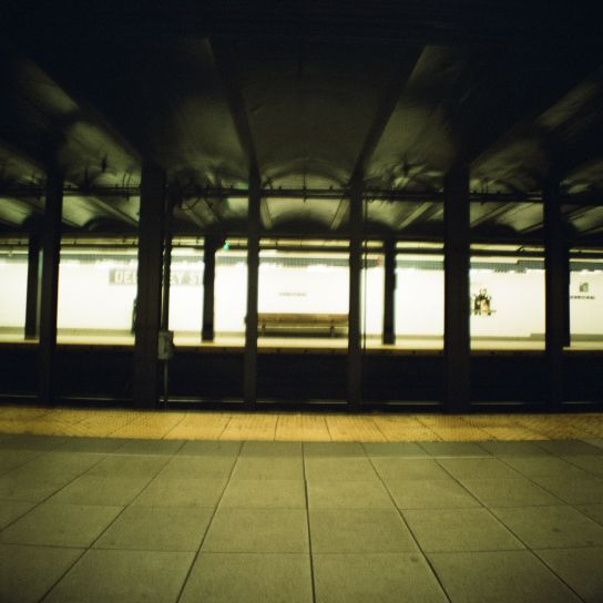Essex St. Station, by night, waiting for a train to go to the North of the Island and seek for new discoveries…