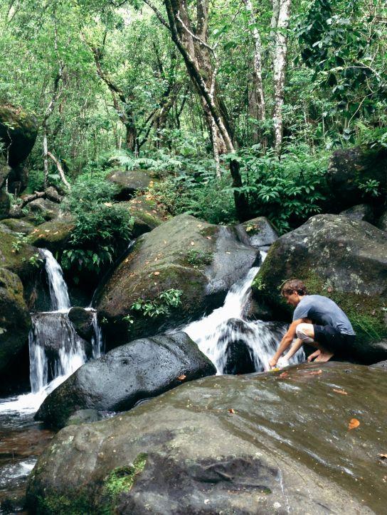 Hanakoa Stream, Kalalau Trail, Kaua'i, Hawaii