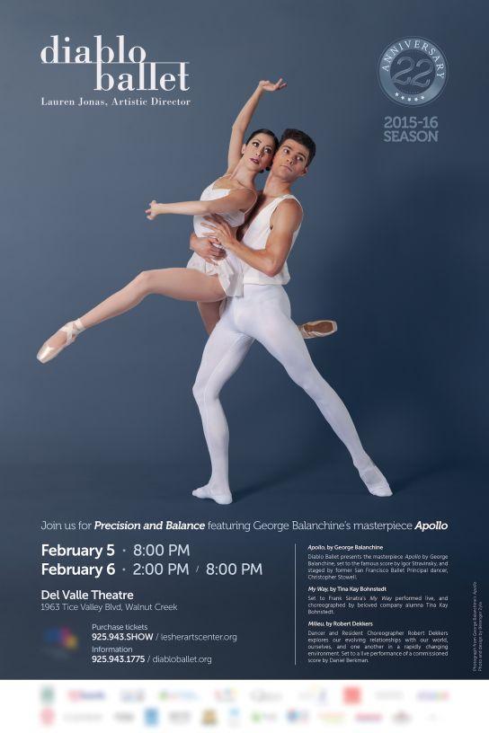 Diablo Ballet — Affiche Février 2016 (Apollo)