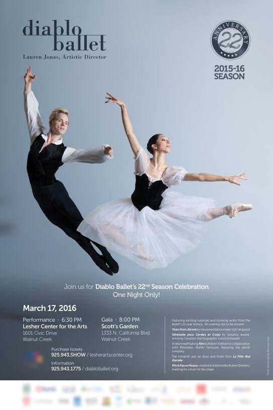 Diablo Ballet — Affiche Mars 2016 (La Fille Mal Gardée)