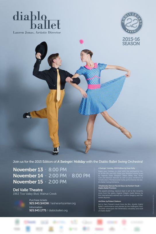 Diablo Ballet — Affiche Novembre 2015 (Swingin' Holiday)