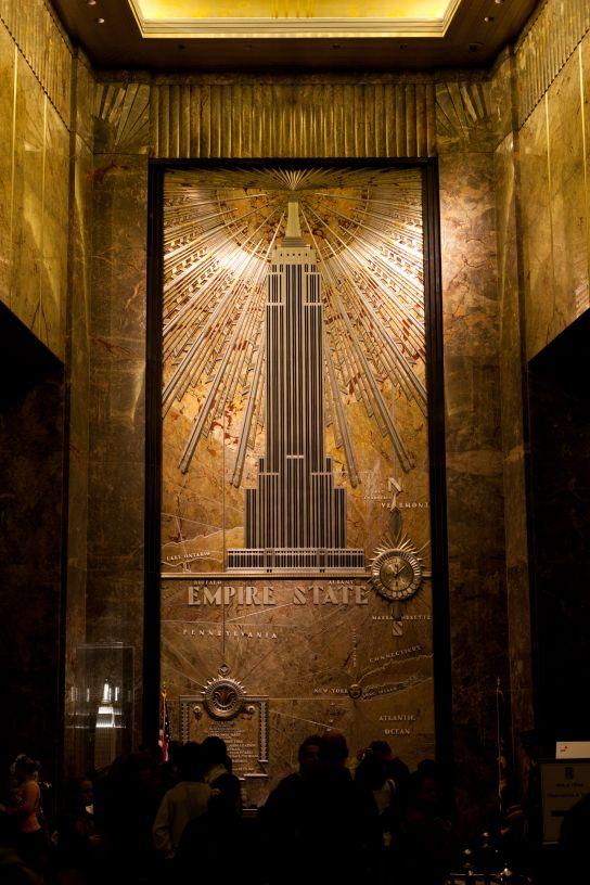 Le hall de l'Empire State Building, déjà une première bouche bée devant tant de magnificence.