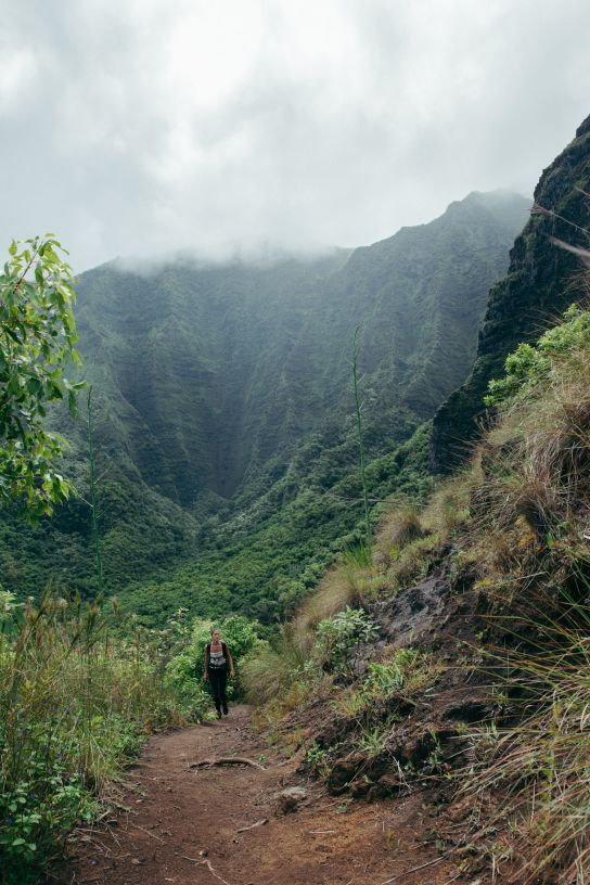 Leaving Hanakoa Valley, Kalalau Trail, Kaua'i, Hawaii