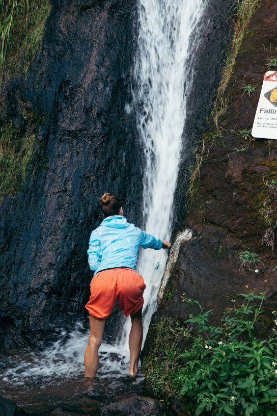 Fresh water, waterfall, Kalalau Beach, Kalalau Trail, Kaua'i, Hawaii