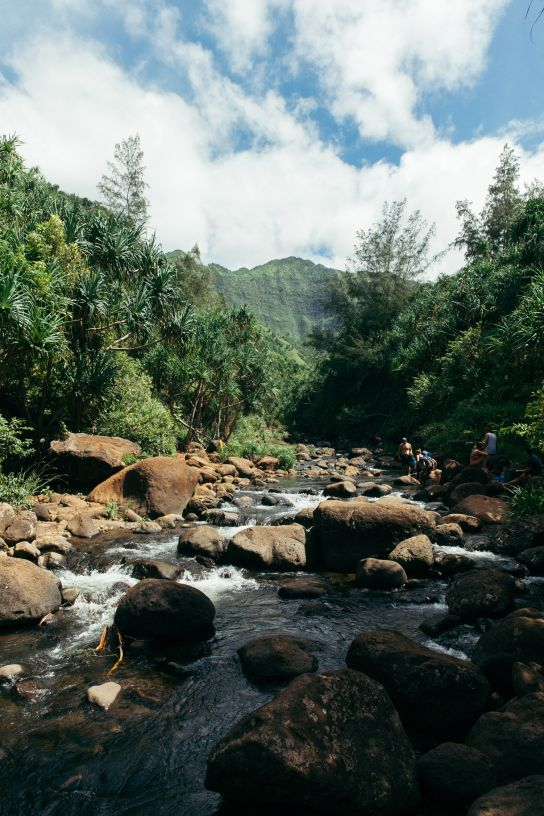 Hanakapiai Stream, Kalalau Trail, Kaua'i, Hawaii