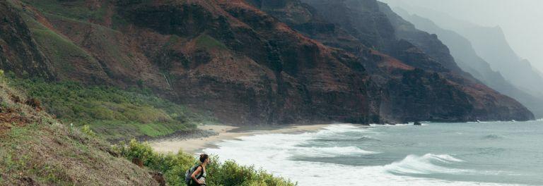 Épisode 3: Kaua'i — Un Paradis. <span class=nobr>Nā Pali Coast</span> et <span class=nobr>Kalalau Trail</span>.