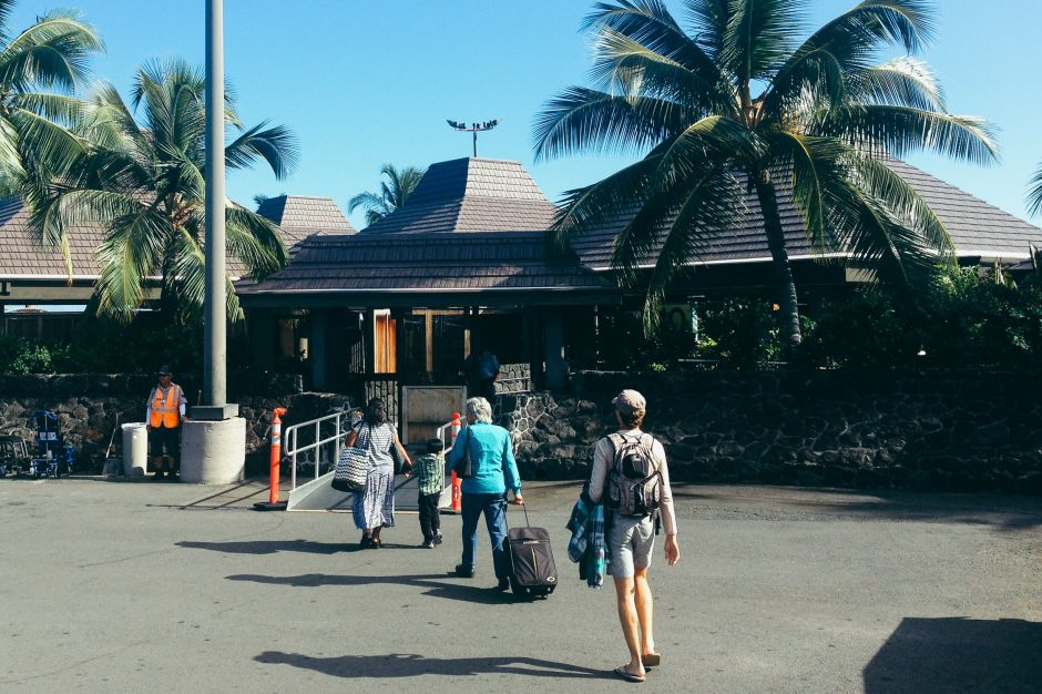 Arrival at Kailua-Kona airport, Big Island, Hawaii